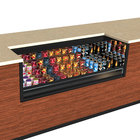 Structural Concepts CO63R-UC-E3 Oasis Black 71 inch Undercounter Air Curtain Merchandiser