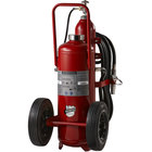 Buckeye 125 lb. Purple K Fire Extinguisher - Rechargeable Untagged Regulated Pressure - UL Rating 320-B:C - Rubber Wheels