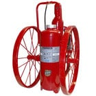 Buckeye 125 lb. Purple K Fire Extinguisher - Rechargeable Untagged Regulated Pressure - UL Rating 320-B:C - Steel Wheels with Rubber Treads