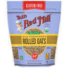 Bob's Red Mill 32 oz. Organic Gluten Free Whole Grain Rolled Oats - 4/Case