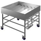 Winholt SSMIT-4848MLC/ADJ 48  Adjustable Stainless Steel Insulated Cold Food Display Table