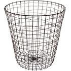 GET WB-312-MG Breeze 15 3/4 inch x 18 inch Round Metal Gray Storage Basket