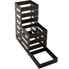 GET MTS-36-MG Curator Metal Gray 3 Tier Condiment Stand / Display Stand