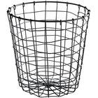 GET WB-317-MG Breeze 8 inch x 8 inch Round Metal Gray Storage Basket