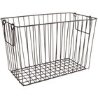 GET WB-313-MG Breeze 14 1/2 inch x 7 1/4 inch x 9 1/4 inch Rectangular Metal Gray Storage Basket with Swinging Handles
