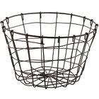 GET WB-316-MG Breeze 8 inch x 5 inch Round Metal Gray Storage Basket