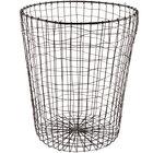 GET WB-300-MG Breeze 11 1/2 inch x 14 7/16 inch Round Metal Gray Storage Basket
