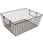 GET WB-314-MG Breeze 10 inch x 5 1/2 inch x 6 3/4 inch Rectangular Metal Gray Storage and Display Basket with Swinging Handles