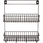GET WB-308-MG Breeze 12 inch x 3 1/2 inch x 13 inch Metal Gray 2 Level Hanging Wall Basket