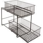 GET WB-309-MG Breeze 15 inch x 8 inch x 11 inch Metal Gray Sliding Shelf Baskets