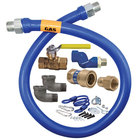 Dormont 1675KITB2S36 36 inch Gas Connector Kit with Quick-Disconnect, Two Swivel MAX® Fittings, and Restraining Cable - 3/4 inch Diameter