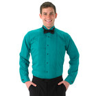 Henry Segal Unisex Customizable Teal Tuxedo Shirt with Wing Tip Collar - 2XL