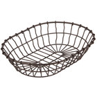 American Metalcraft WBB11 11 inch x 8 inch x 2 1/2 inch Bronze Oval Wire Basket