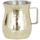 American Metalcraft CHG2 2 oz. Gold Hammered Stainless Steel Bell Creamer