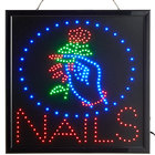 Choice 20 inch x 20 inch LED Square Nails Sign with Two Display Modes