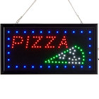 Choice 19 inch x 10 inch LED Rectangular Pizza Slice Sign with Two Display Modes