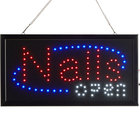 Choice 19 inch x 10 inch LED Rectangular Nails Open Sign with Two Display Modes