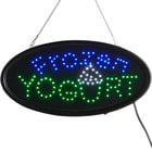 Choice 19 inch x 10 inch LED Oval Frozen Yogurt Sign with Two Display Modes
