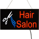 Choice 19 inch x 10 inch LED Solid Rectangular Hair Salon Sign with Two Display Modes