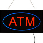 Choice 19 inch x 10 inch LED Solid Rectangular Blue and Red ATM Sign with Two Display Modes