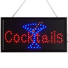 Choice 19 inch x 10 inch LED Rectangular Cocktails Sign with Two Display Modes