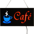 Choice 19 inch x 10 inch LED Solid Rectangular Cafe Sign with Two Display Modes