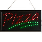 Choice 19 inch x 10 inch LED Rectangular Red and Green Pizza Sign with Two Display Modes