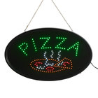 Choice 23 inch x 13 inch LED Oval Pizza Sign with Two Display Modes