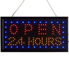 Choice 19 inch x 10 inch LED Rectangular Open 24 Hours Sign with Two Display Modes