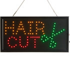 Choice 19 inch x 10 inch LED Rectangular Hair Cut Sign with Two Display Modes