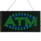 Choice 19 inch x 10 inch LED Rectangular Blue and Green ATM Sign with Two Display Modes