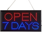 Choice 19 inch x 10 inch LED Rectangular Open 7 Days Sign with Two Display Modes