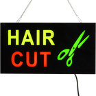 Choice 19 inch x 10 inch LED Solid Rectangular Hair Cut Sign with Two Display Modes