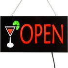 Choice 19 inch x 10 inch LED Solid Rectangular Cocktail Open Sign with Two Display Modes