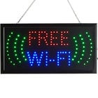 Choice 19 inch x 10 inch LED Rectangular Free WiFi Sign with Two Display Modes