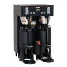 Bunn 34600.0007 Black BrewWISE Dual ThermoFresh DBC Brewer with Funnel Lock - 120/208V, 5700W