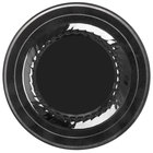 Fineline Silver Splendor 506-BKS 6 inch Black Plastic Plate with Silver Bands - 15/Pack