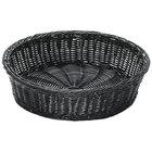 GET WB-1551-BK 15 1/2 inch x 4 1/4 inch Designer Polyweave Black Round Basket - 12/Case