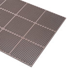 Cactus Mat 2535-B23 Honeycomb 2' x 3' Brown Rubber Anti-Fatigue Mat - 9/16 inch Thick