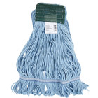 Continental Wilen A05102 24 oz. Medium Blue Blend Loop End Mop Head with 5 inch Band