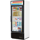 True GDM-26-LD White Glass Door Merchandiser with LED Lighting - 26 Cu. Ft.