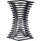 Cal-Mil 1465-15-13 Black Metal Elevation Riser - 8 inch x 8 inch x 15 inch