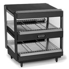 Nemco 6480-24S-B Black 24 inch Slanted Double Shelf Merchandiser - 120V