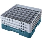 Cambro 49S800414 Teal Camrack Customizable 49 Compartment 8 1/2 inch Glass Rack
