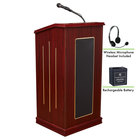 Oklahoma Sound M711-MY/LWM-7 Mahogany Finish Prestige Lectern with Sound, Wireless Headset Microphone, and Rechargeable Battery