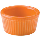 Hall China 30834325 Tangerine 2.75 oz. Colorations Fluted Ramekin - 36/Case