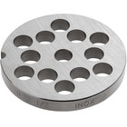 Avantco MG2250 #22 Stainless Steel Grinder Plate for MG22 Meat Grinder - 1/2 inch