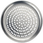 American Metalcraft CTP16P 16 inch Perforated Standard Weight Aluminum Coupe Pizza Pan