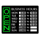 17 inch x 13 inch Open Business Hours Horizontal LED Sign