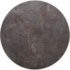 BFM Seating RC30R Relic Rustic Copper 30 inch Round Melamine Table Top with Matching Edge
